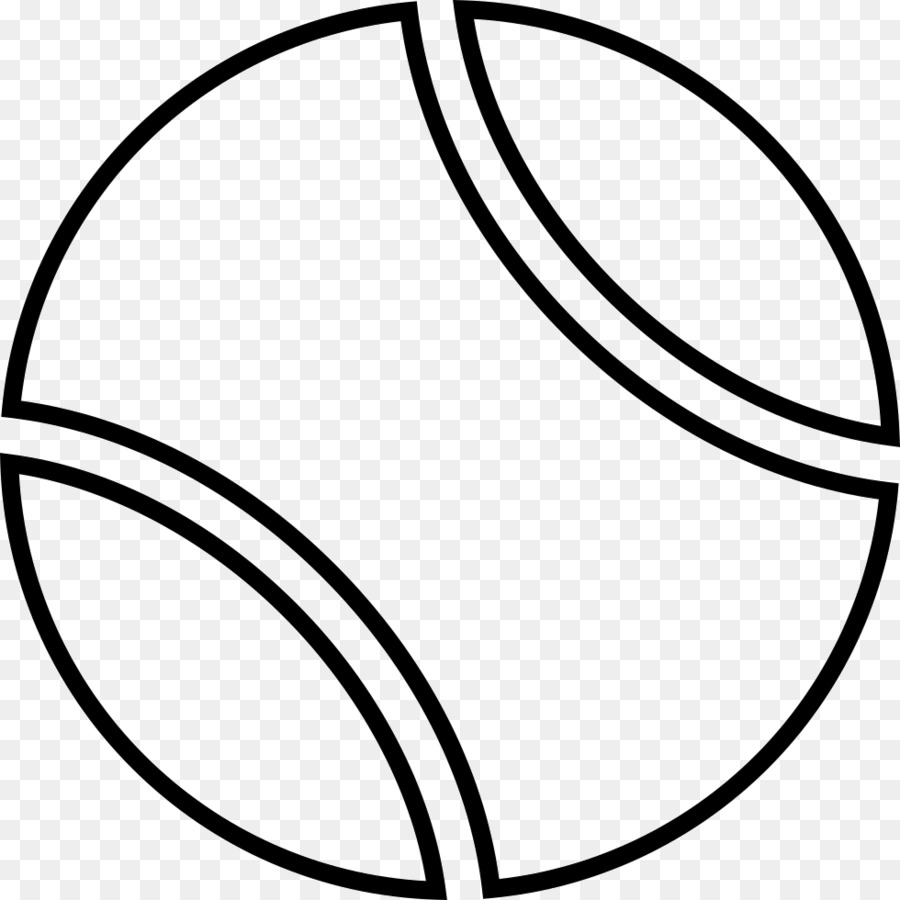 Black and white clipart of tennis ball jpg library download Tennis Ball png download - 980*980 - Free Transparent Tennis Balls ... jpg library download