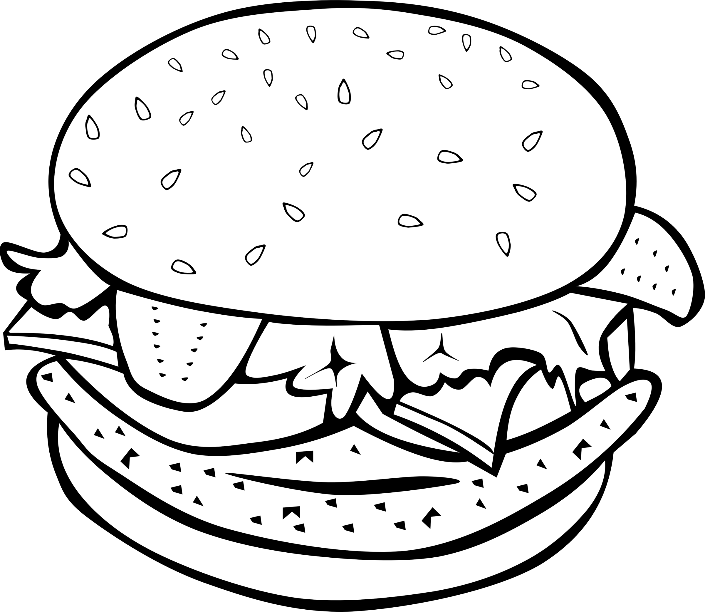 Cartoon drawing of at. Fish food clipart black and white