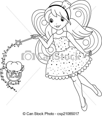Tooth fairy clipart black and white picture royalty free 18+ Fairy Clipart Black And White | ClipartLook picture royalty free
