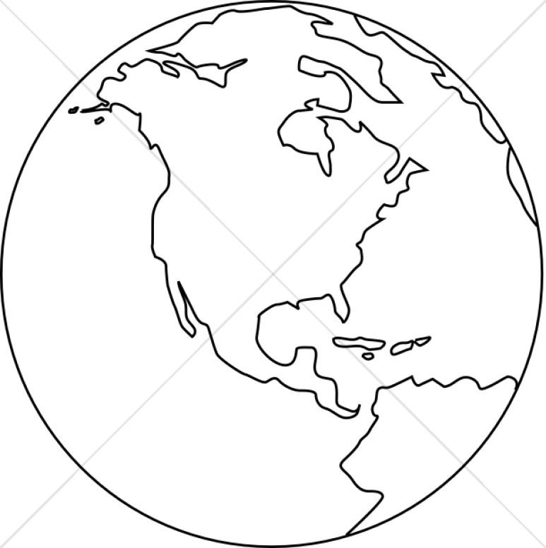 Globe clipart outline clipart black and white library World black and white clipart 3 » Clipart Station clipart black and white library