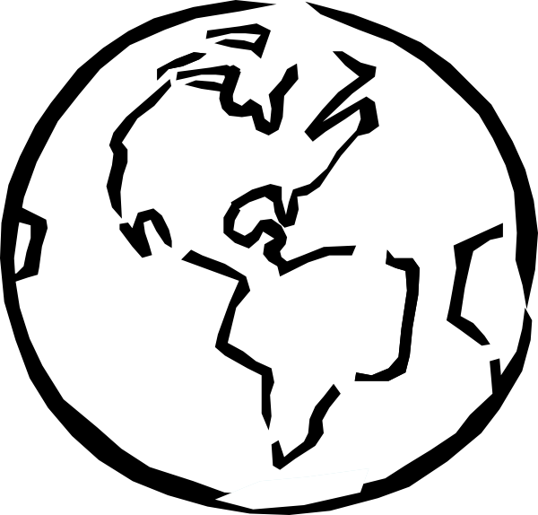 Clipart globe earth black white black and white 19+ World Clipart Black And White | ClipartLook black and white