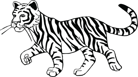 Black and white clipart of tiger clipart download 65+ Black And White Tiger Clipart | ClipartLook clipart download