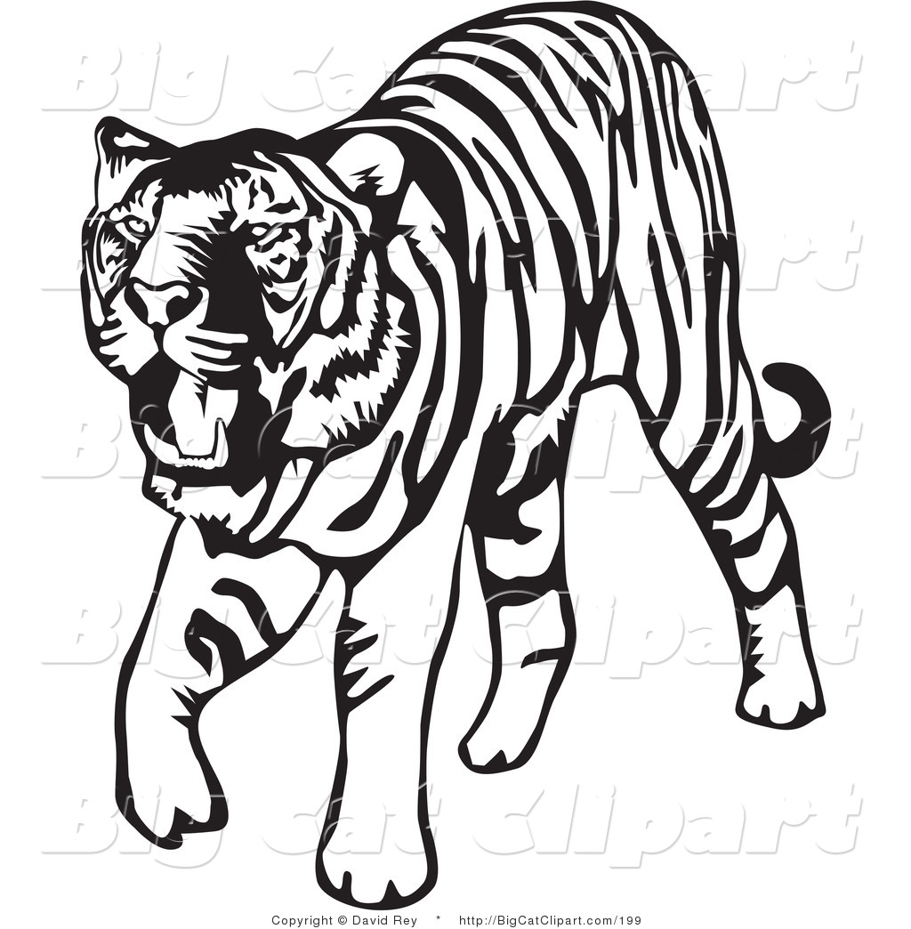 Free tiger clipart black and white vector black and white stock Tiger Clip Art Black And White | Clipart Panda - Free Clipart Images vector black and white stock