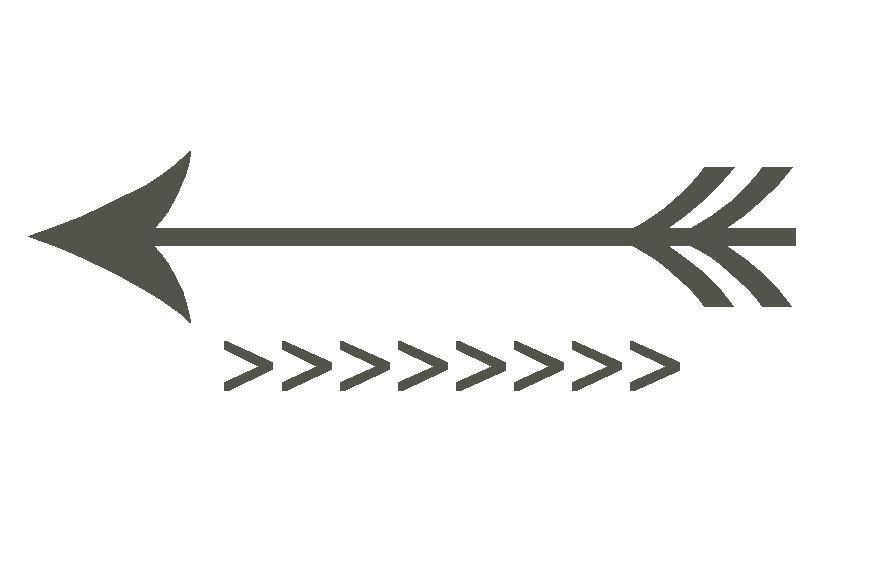 White tribal arrow clipart