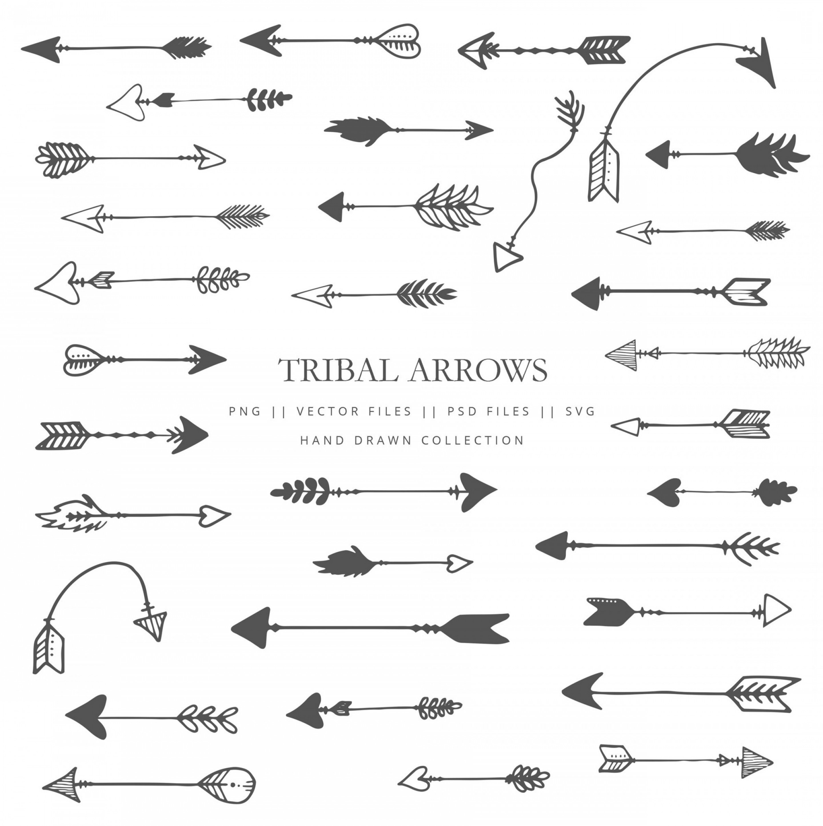 Black and white clipart of trible arrows image library Clip Art With Tribal Arrows Arrow | SOIDERGI image library