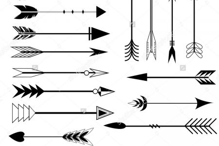 Black and white clipart of trible arrows png download Tribal Arrows Clipart | Free download best Tribal Arrows Clipart on ... png download
