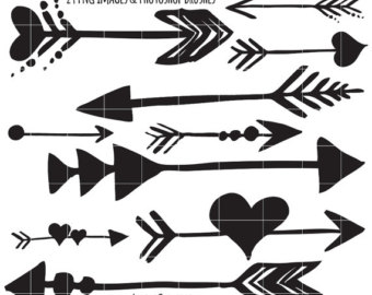 Black and white clipart of trible arrows vector free library Tribal arrow clipart black and white - Clip Art Library vector free library