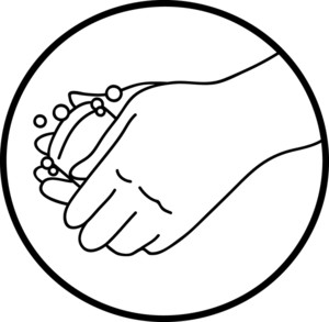 Black and white clipart of washing hands jpg transparent library Washing hands clipart black and white 8 » Clipart Station jpg transparent library
