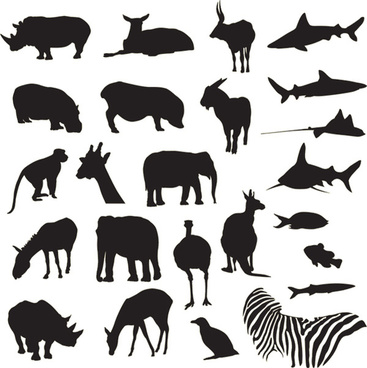 Vector illustrations and clipart safari black and white graphic transparent stock Vector zoo animal silhouettes free vector download (13,458 Free ... graphic transparent stock