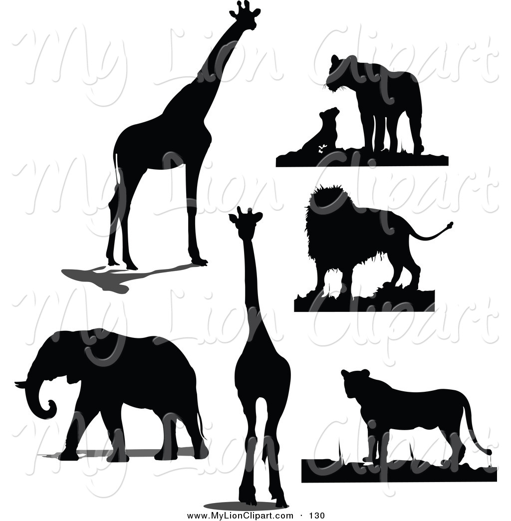 Black and white clipart of zoo animal silhouettes clip art library download Zoo Animals Clipart Black And White | Free download best Zoo Animals ... clip art library download