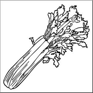 Black and white clipart ofcelery image free download Clip Art: Celery B&w I Abcteach | Abcteach inside Celery Clipart ... image free download