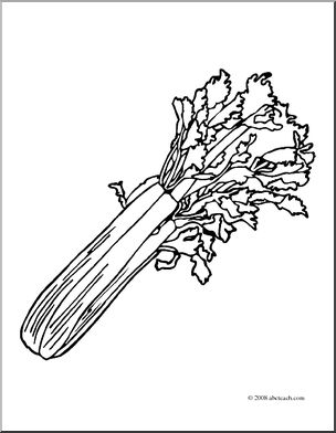 Black and white clipart ofcelery picture black and white library Clip Art: Celery I abcteach.com | abcteach picture black and white library