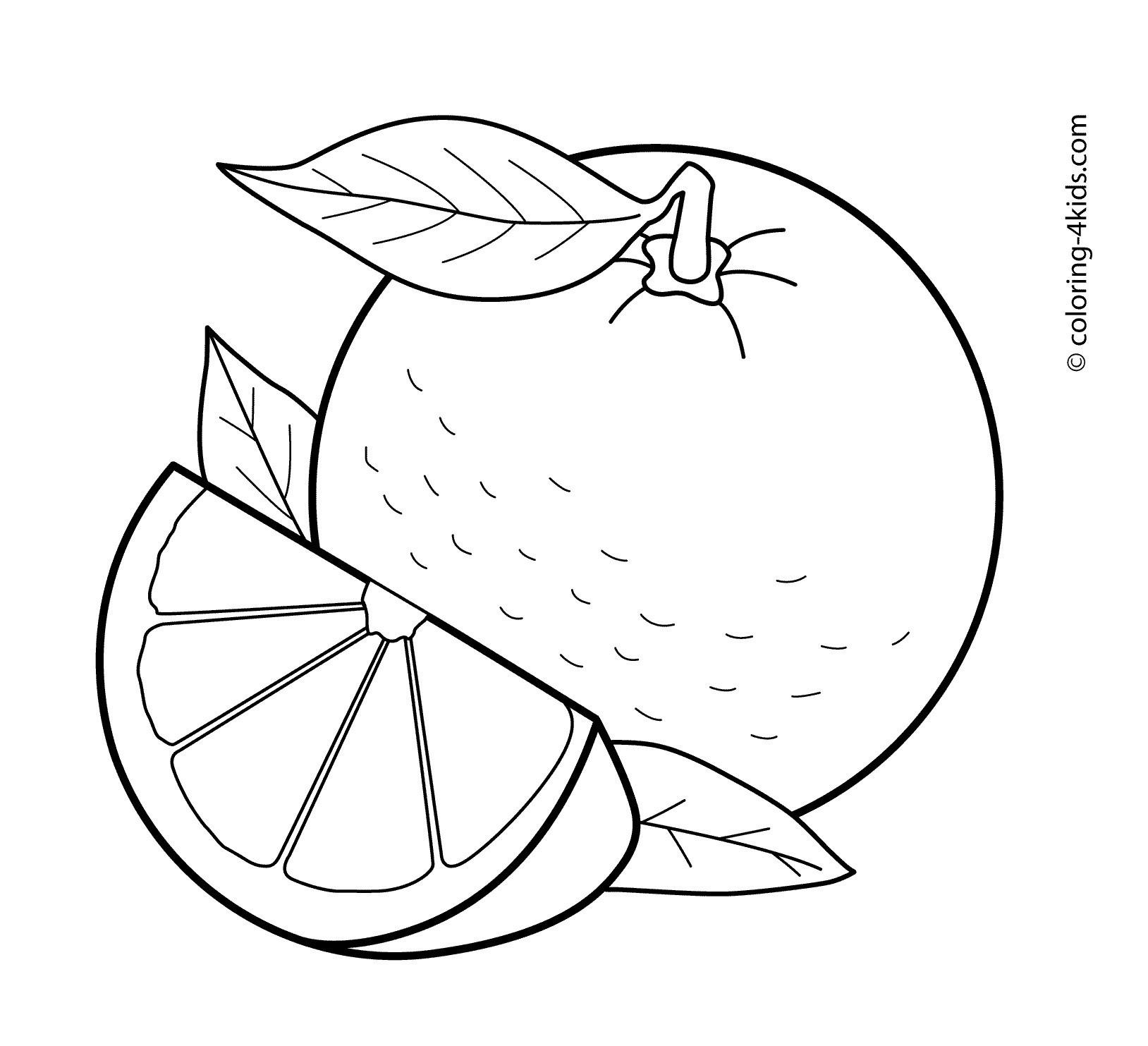 Black and white clipart orange graphic transparent Orange fruit clipart black and white 1 » Clipart Station graphic transparent