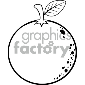 Black and white clipart orange banner transparent download Royalty Free RF Clipart Illustration Black And White Orange Fresh Fruit  Cartoon Lines Drawing Vector Illustration Isolated On White Background ... banner transparent download