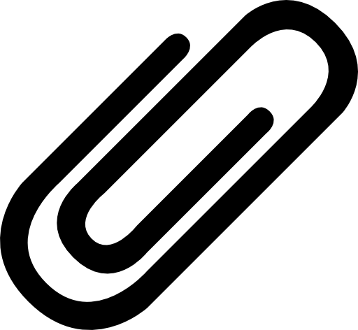 Clipart clip clip free library Paper clip clipart black and white 2 » Clipart Station clip free library