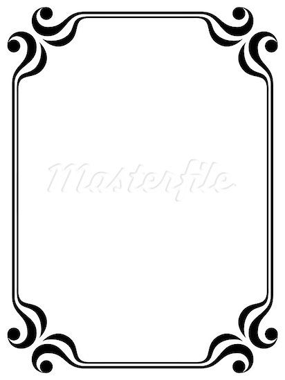 Black and white clipart patriotic single boarder freeuse library Pin by Ashley Porter on Crafty   Line border, Clipart images, Simple ... freeuse library