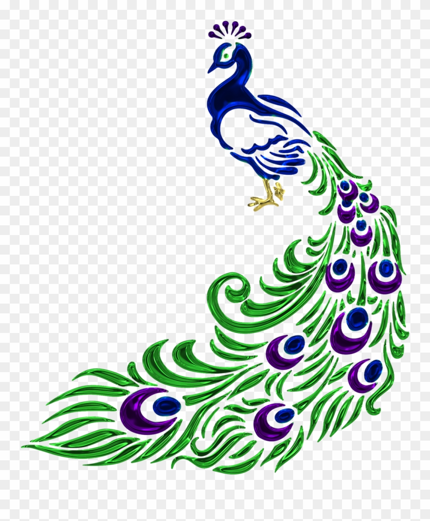 Free peacock clipart image black and white library Vector Black And White Free Image On Pixabay - Peacock Vector Black ... image black and white library