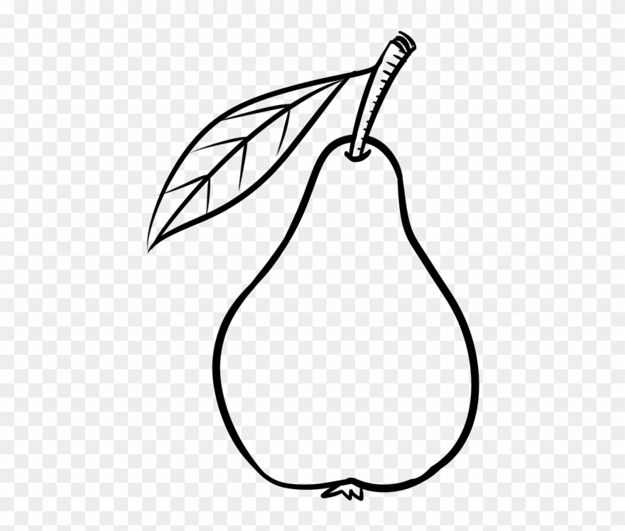 Black and white clipart pear graphic free stock Pear Fruit Clipart Black And White - Png Download (#1533459 ... graphic free stock