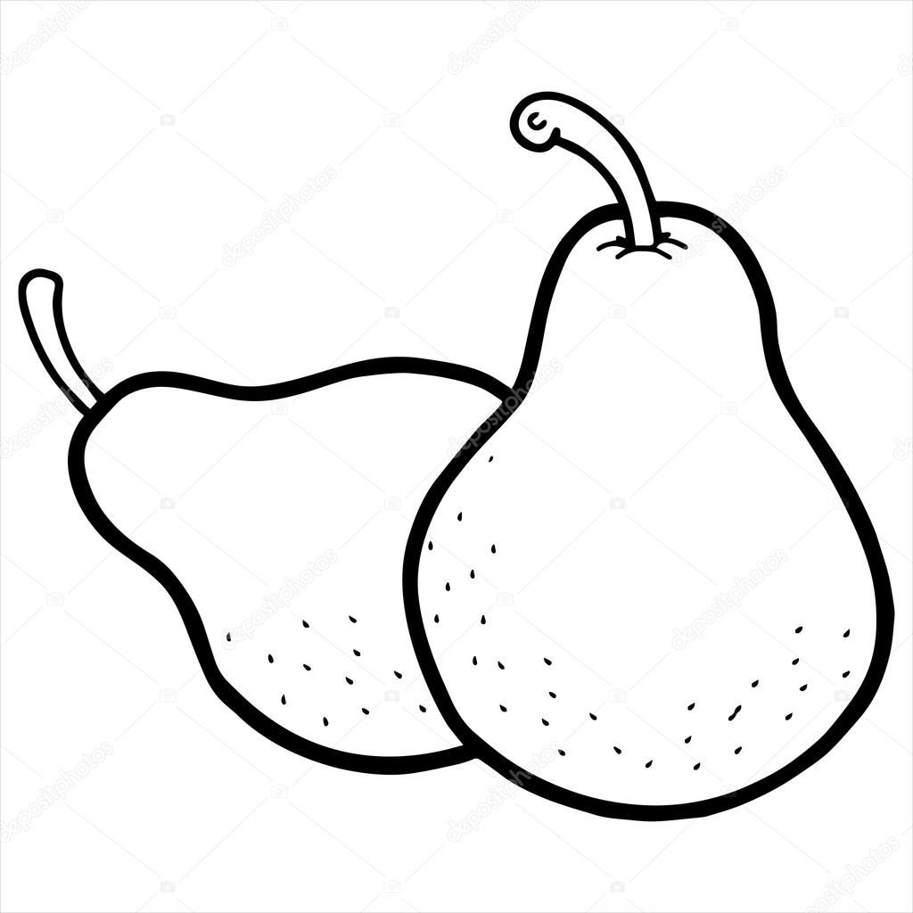 Black and white clipart pear jpg library download Pear black and white clipart 4 » Clipart Station jpg library download