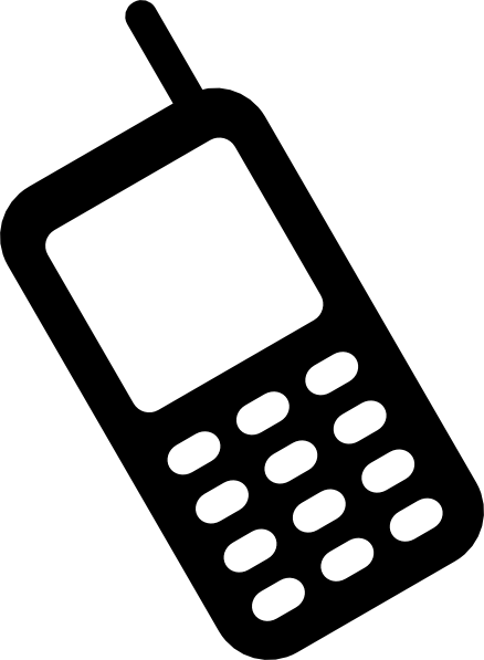 Free cell phone images clipart. Black and white panda