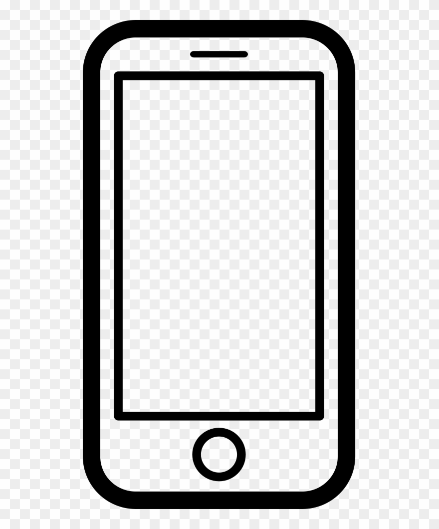 Mobile device clipart image black and white download Graphic Download Black And White Smartphone Clipart - Mobile Phone ... image black and white download