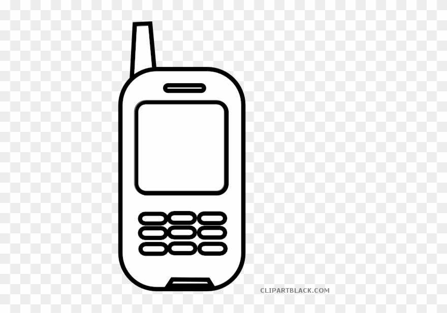 Logo celular clipart black and white library Jpg Free Library Cell Phone Black And White Clipart - Celular Blanco ... black and white library