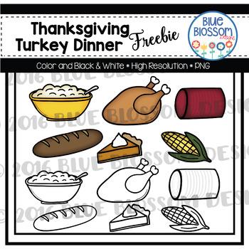 Black and white clipart picture for dinner option svg transparent download Thanksgiving Dinner Clip Art & Worksheets | Teachers Pay Teachers svg transparent download