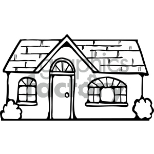 Black and white clipart picture of house clip royalty free library house clipart - Royalty-Free Images | Graphics Factory clip royalty free library