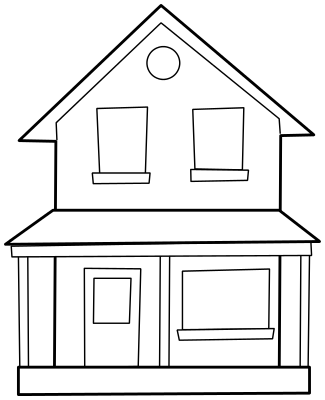 House with pool clipart black and white clip art royalty free library Best House Clipart Coloring Black White #29976 - Clipartion.com clip art royalty free library