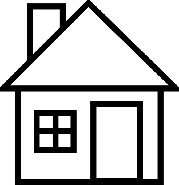 Real estate black and white clipart free