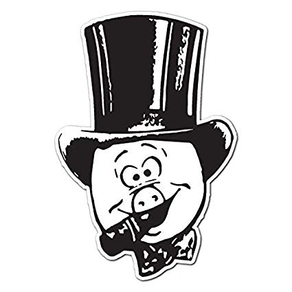 Black and white clipart pig with cigar picture library download Amazon.com: Pig with Top Hat and Cigar - Vinyl Decal Sticker - 11.5 ... picture library download
