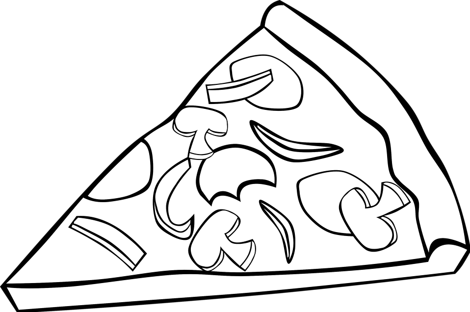 Black and white clipart pizza jpg free stock Free Pizza Black And White, Download Free Clip Art, Free Clip Art on ... jpg free stock