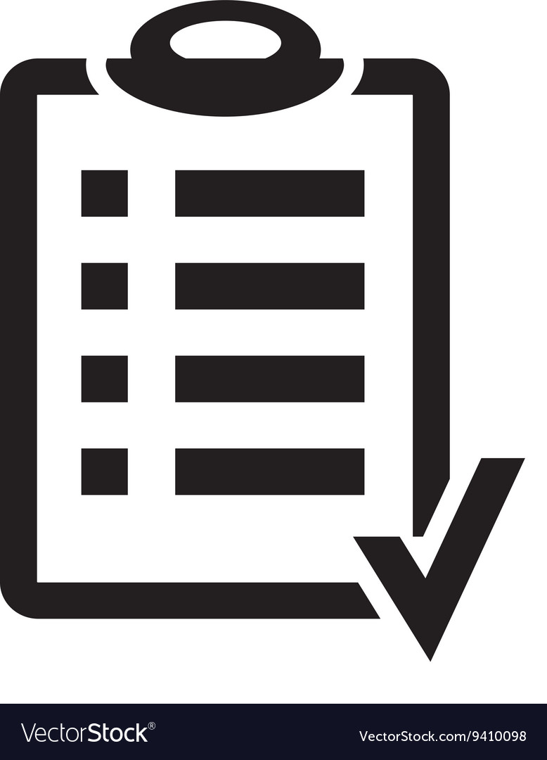 Black and white clipart plan clip freeuse Action plan clipboard icon design over a white clip freeuse