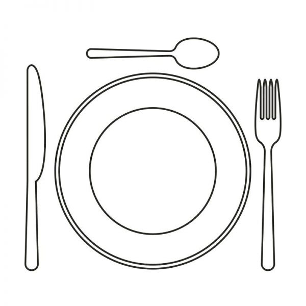 Black and white plate clipart graphic transparent stock Collection Of Free Dining Clipart Palte. Download On Ubisafe within ... graphic transparent stock