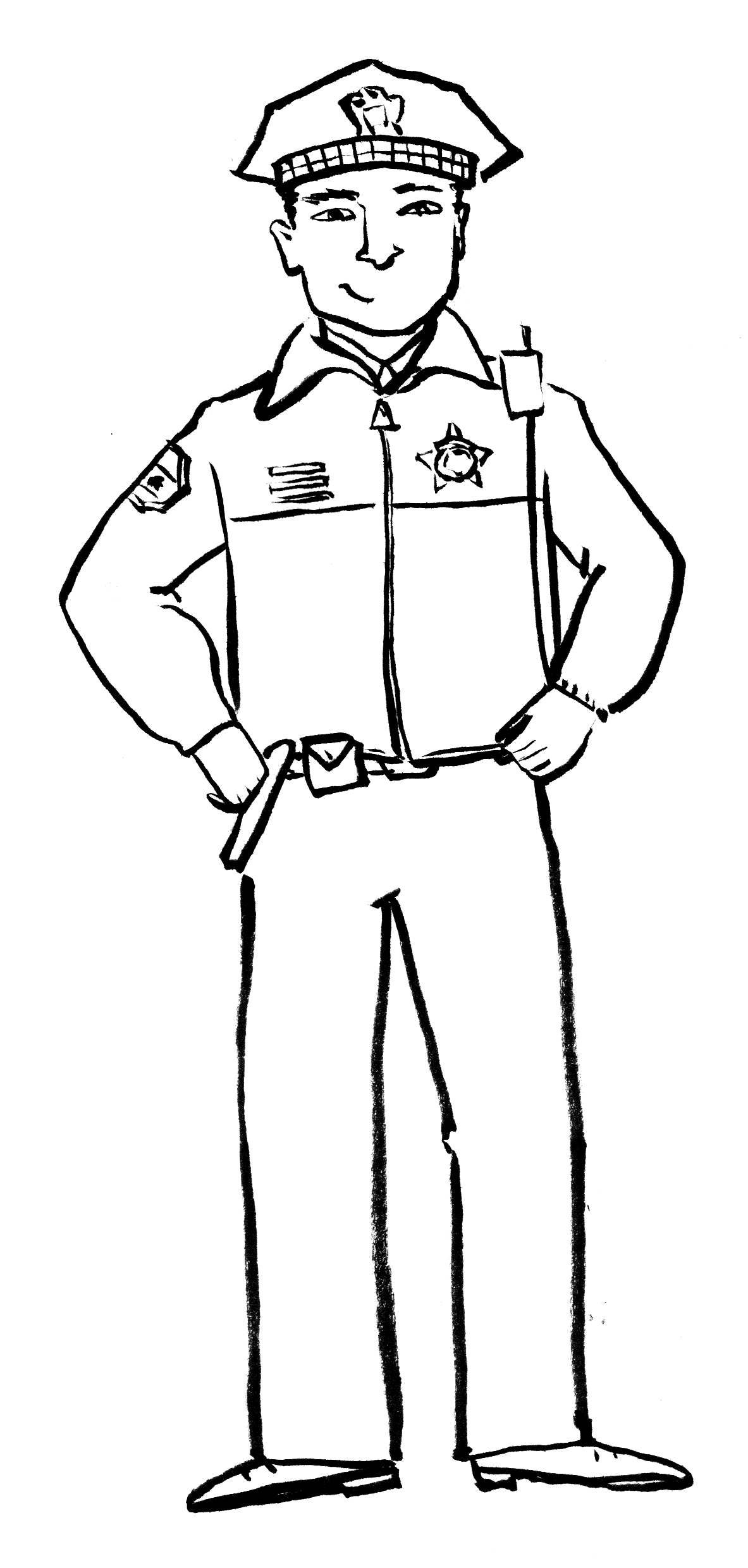 Black and white clipart police jpg black and white stock Police clipart black and white 4 » Clipart Station jpg black and white stock