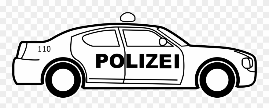 Black and white clipart police image transparent download Big Image - Police Cars Black And White Clipart - Png Download ... image transparent download