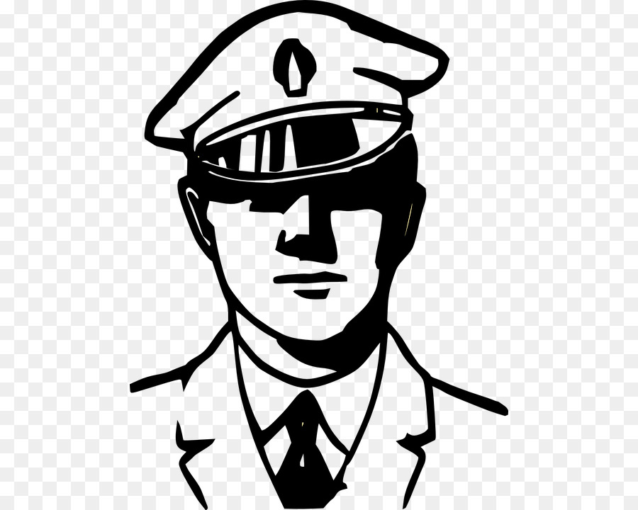Black and white clipart police vector Police Officer Cartoon clipart - Police, White, Head, transparent ... vector