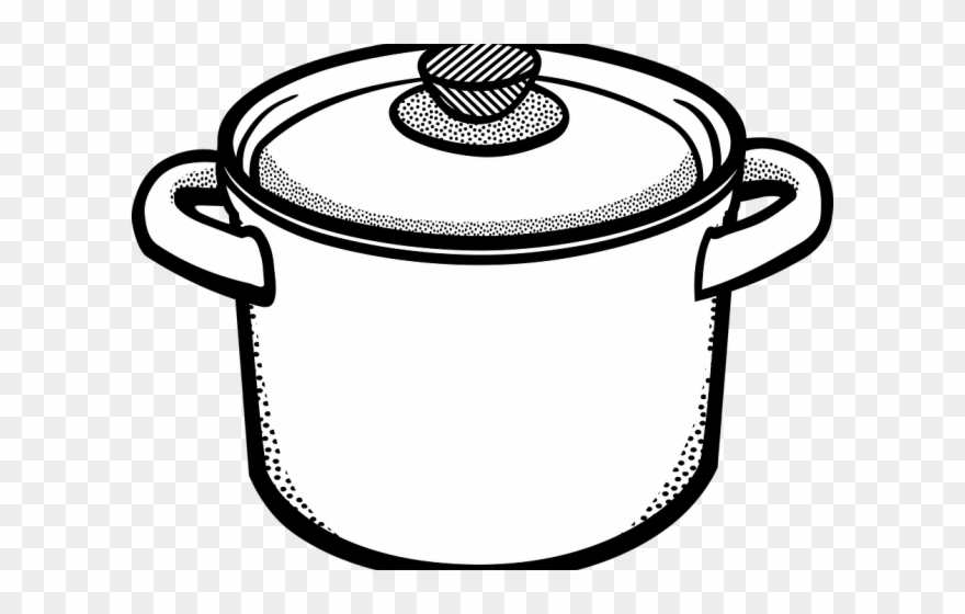 Black and white clipart pots and pans black and white Cooking Pan Clipart Dhakkan - Cooking Pot Clipart Black And White ... black and white
