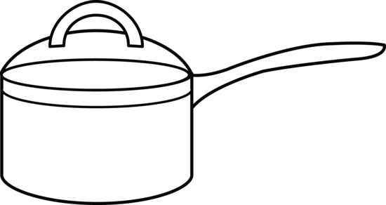 Black and white clipart pots and pans clipart black and white library Free Sauce Pan Cliparts, Download Free Clip Art, Free Clip Art on ... clipart black and white library