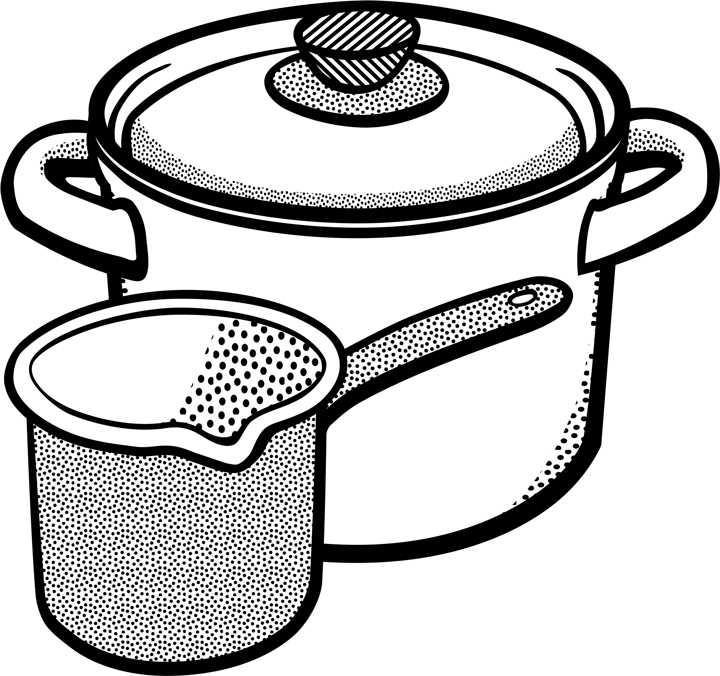 Black and white clipart pots and pans vector HD This Free Icons Png Design Of Pots - Cooking Pot Clipart Black ... vector