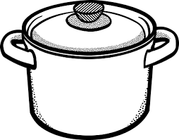 Black and white clipart pots and pans banner black and white library Image result for clipart pictures black and white cooking pot | pots ... banner black and white library