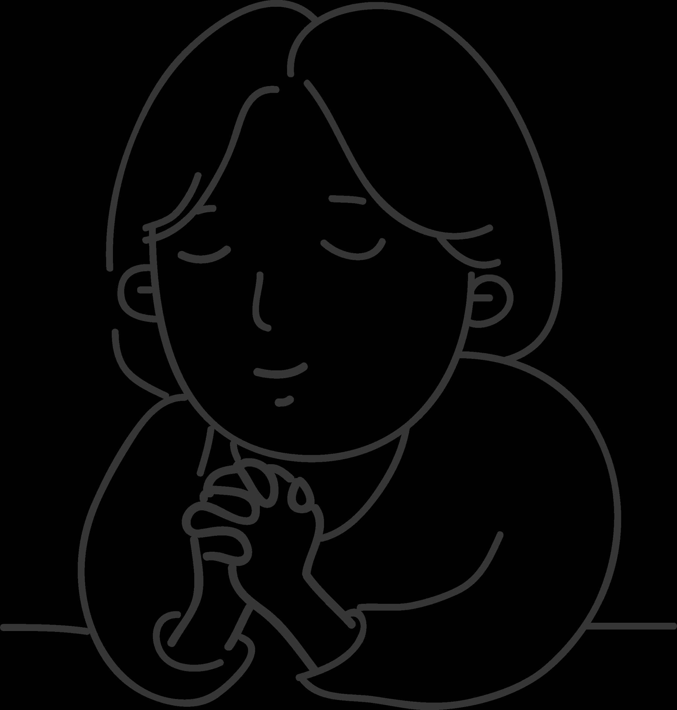 Black and white clipart prayer jpg transparent library Clipart - Praying Clip Art Black And White , Transparent Cartoon ... jpg transparent library