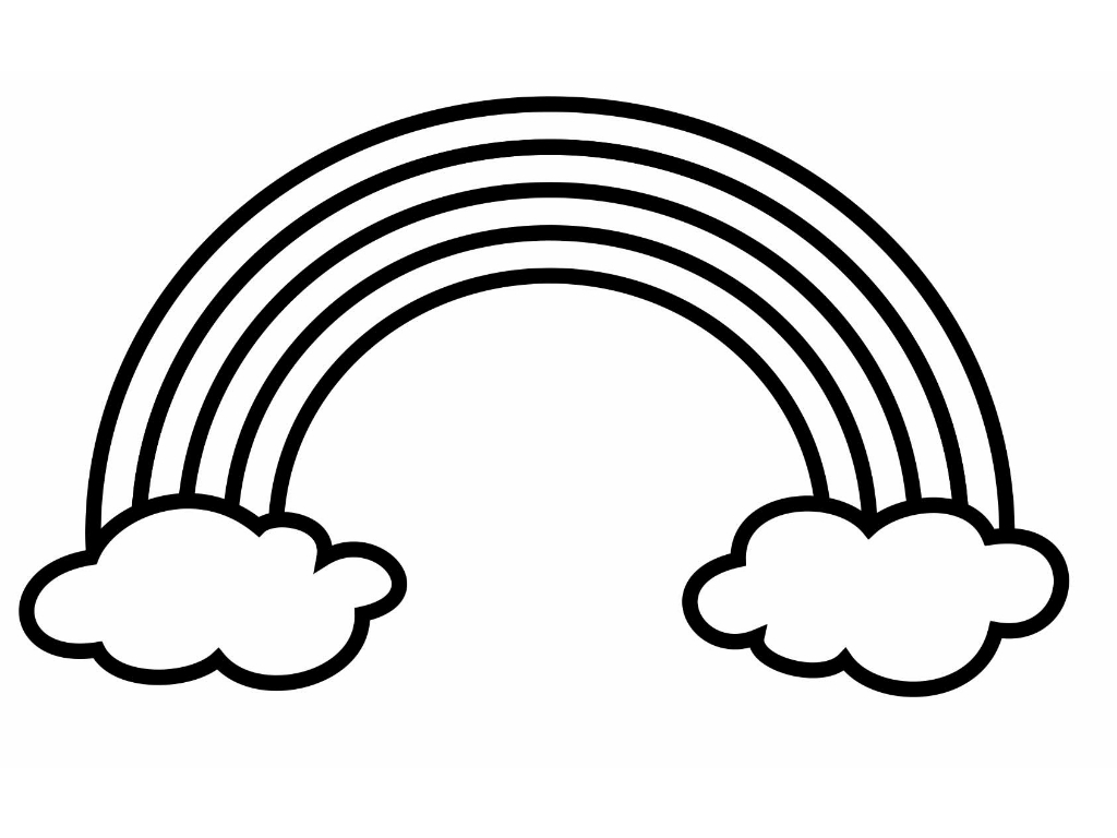Rainbow black and white clipart picture free library Rainbow Clipart Black And White - 59 cliparts picture free library