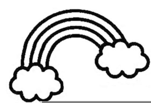 Black and white clipart rainbow graphic freeuse Rainbow Clipart Free Black And White | Free Images at Clker.com ... graphic freeuse