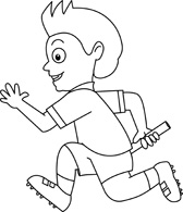 Black and white clipart ran