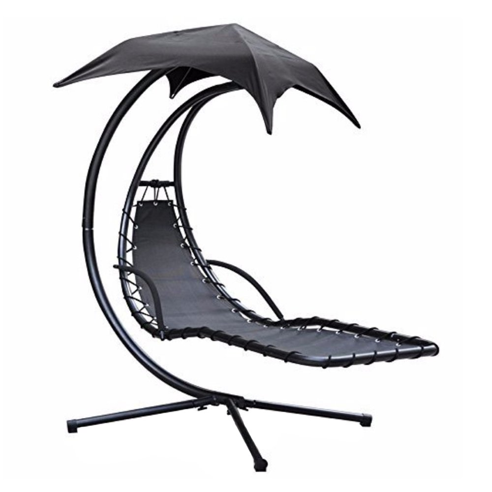 Black and white clipart reading chair outside clip art download Zexum Swinging Helicopter Garden Relaxation Dream Chair with Canopy ... clip art download