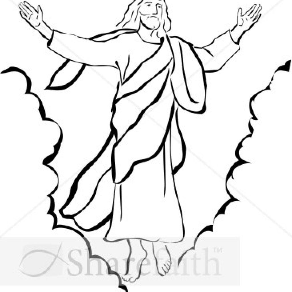 Christ resurrection clipart clipart download Jesus Resurrection Drawing | Free download best Jesus Resurrection ... clipart download