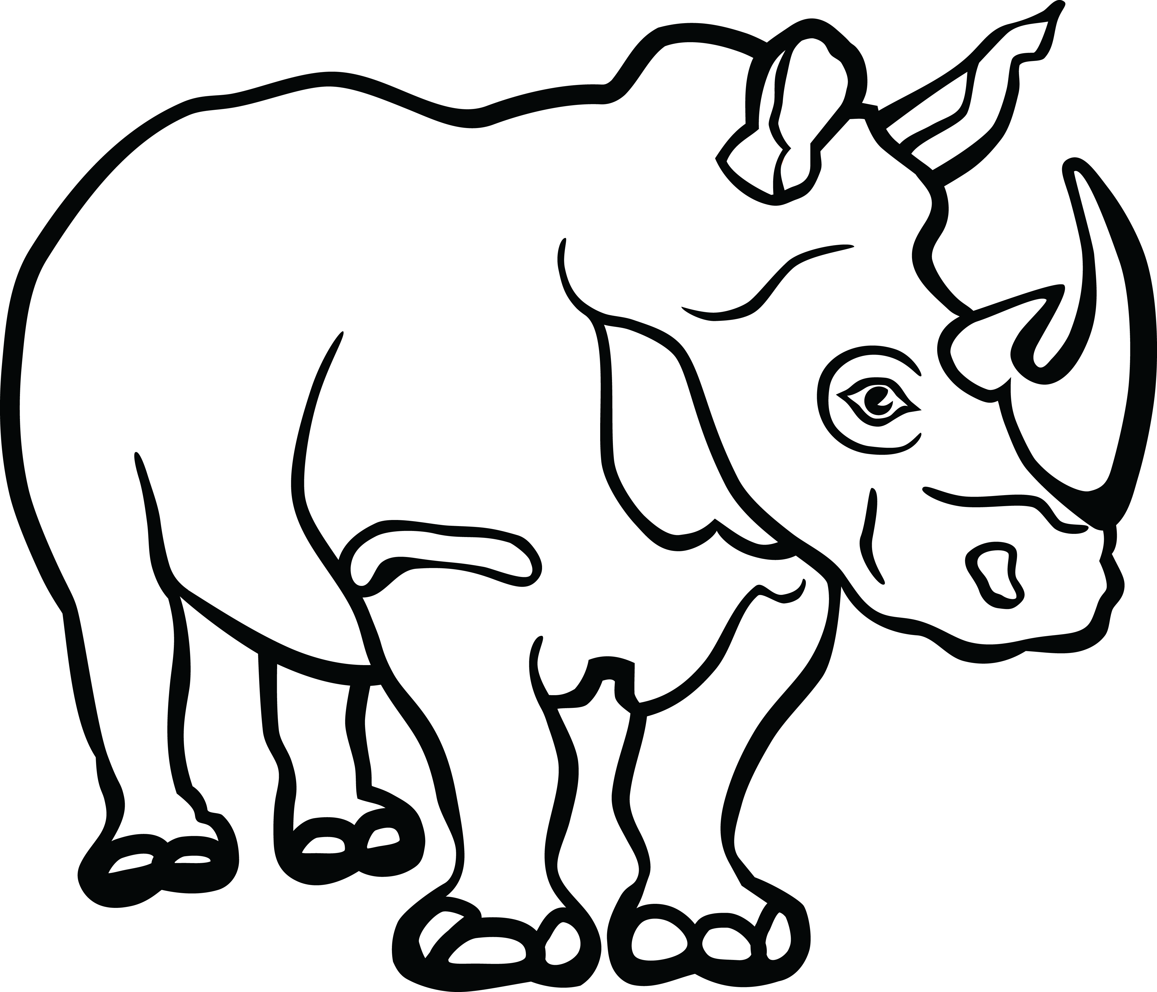 Black vs white rhino clipart png transparent stock Rhino Clipart Black And White | Free download best Rhino Clipart ... png transparent stock