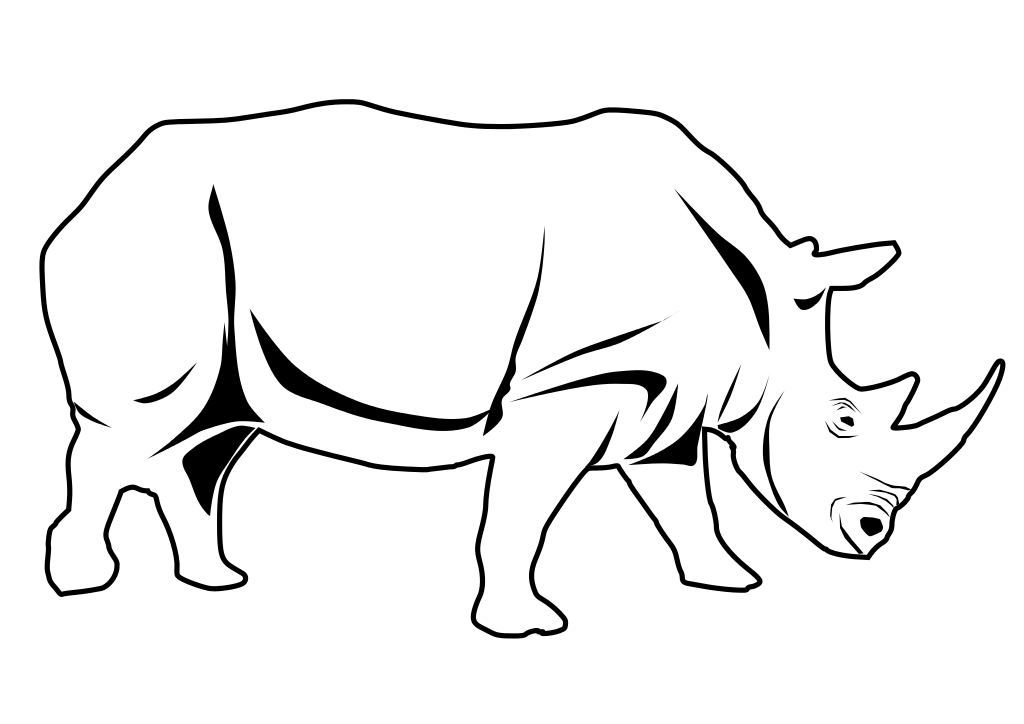 Black and white clipart rhinoceros png transparent library Free Rhinoceros Clipart, Download Free Clip Art, Free Clip Art on ... png transparent library