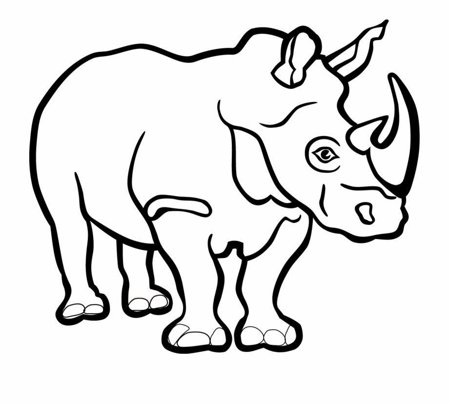 Black and white clipart rhinoceros png stock Rhino Black And White Free PNG Images & Clipart Download #2505492 ... png stock